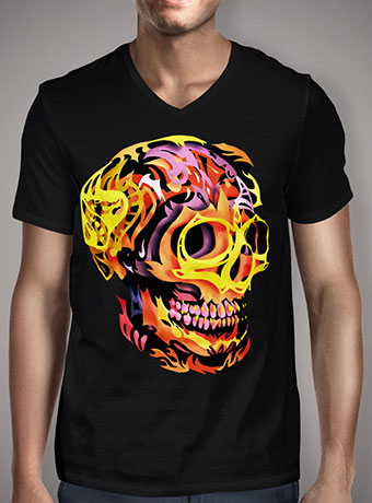 Мужская футболка с V-образным вырезом Skull V