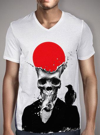 Мужская футболка с V-образным вырезом Splash Skull