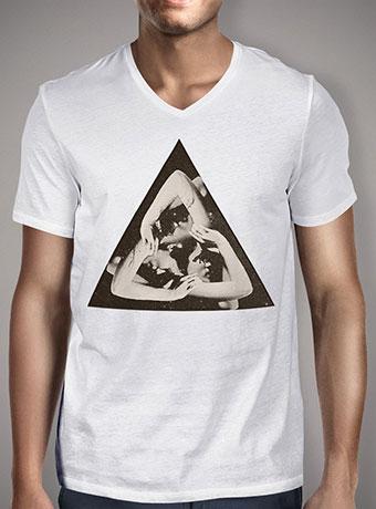 Мужская футболка с V-образным вырезом Triangle
