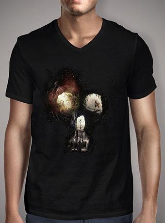 Мужская футболка с V-образным вырезом Cave Skull