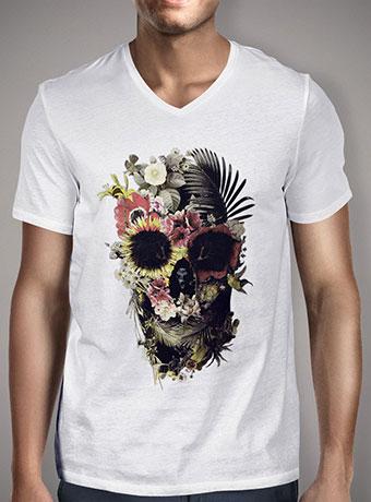 Мужская футболка с V-образным вырезом Garden Skull