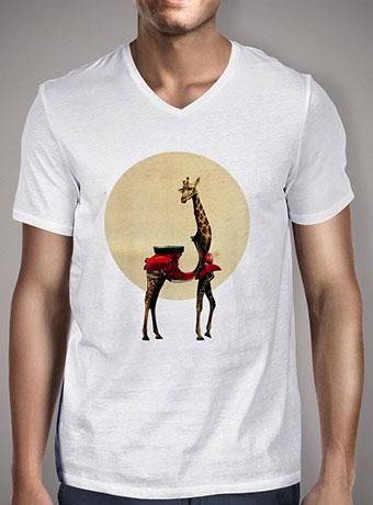 Мужская футболка с V-образным вырезом Giraffe