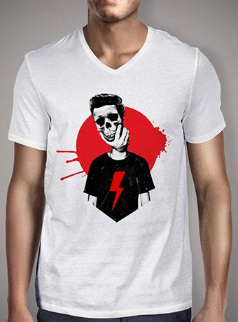Мужская футболка с V-образным вырезом Live Fast