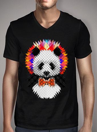 Мужская футболка с V-образным вырезом Panda 2