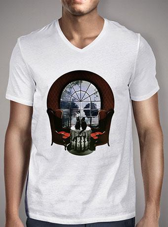Мужская футболка с V-образным вырезом Room Skull
