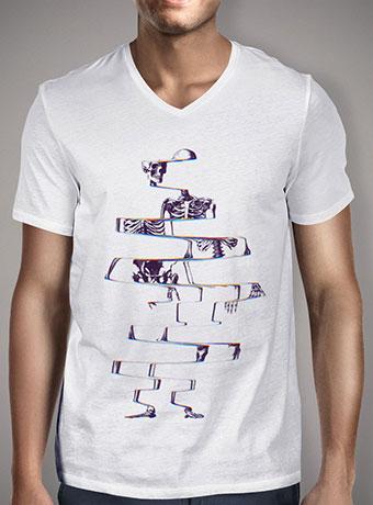 Мужская футболка с V-образным вырезом Skeleton