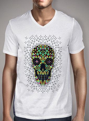 Мужская футболка с V-образным вырезом Skull 6