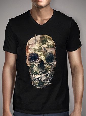 Мужская футболка с V-образным вырезом Skull Town