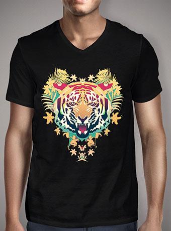 Мужская футболка с V-образным вырезом Tiger