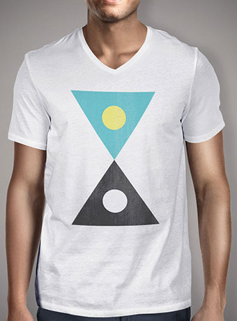 Мужская футболка с V-образным вырезом Day & Night