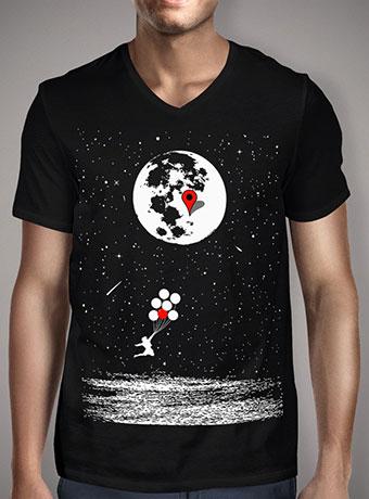 Мужская футболка с V-образным вырезом Destination Moon