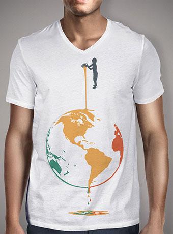 Мужская футболка с V-образным вырезом Fill Your World With Colors