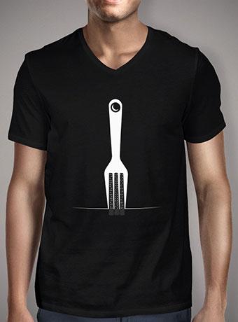 Мужская футболка с V-образным вырезом Fork City