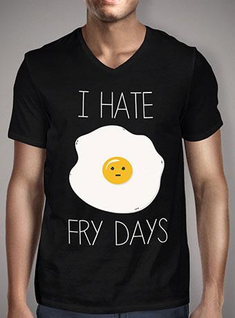 Мужская футболка с V-образным вырезом I Hate Fridays