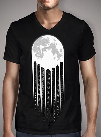 Мужская футболка с V-образным вырезом Moon-City