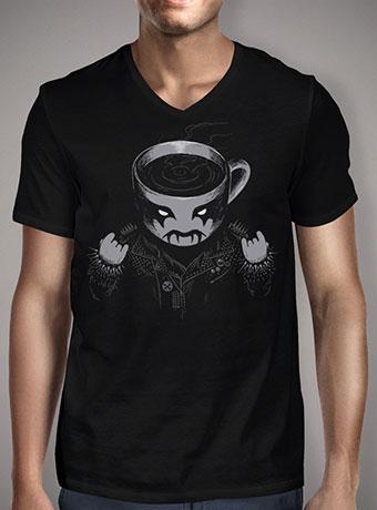 Мужская футболка с V-образным вырезом Black Metal Coffee