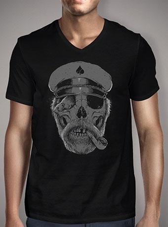 Мужская футболка с V-образным вырезом Black Thorn