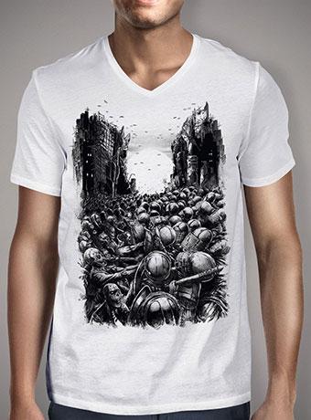 Мужская футболка с V-образным вырезом Chaos Infected