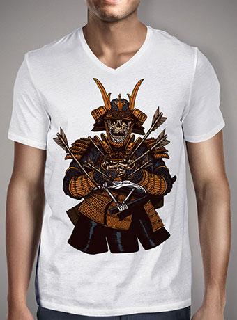 Мужская футболка с V-образным вырезом Dead Samurai