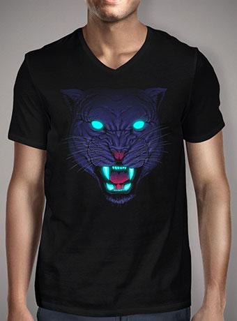 Мужская футболка с V-образным вырезом Electric Panther