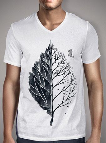 Мужская футболка с V-образным вырезом Leaf of Life