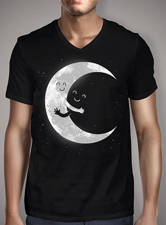 Мужская футболка с V-образным вырезом Moon Hug