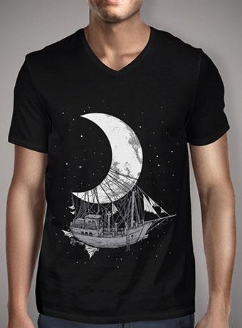 Мужская футболка с V-образным вырезом Moon Ship