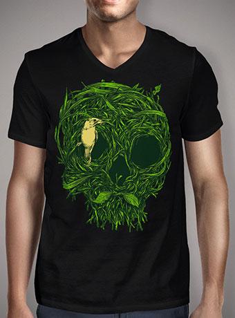 Мужская футболка с V-образным вырезом Skull Nest
