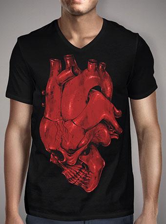 Мужская футболка с V-образным вырезом Skull of Heart