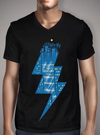 Мужская футболка с V-образным вырезом Thunder City