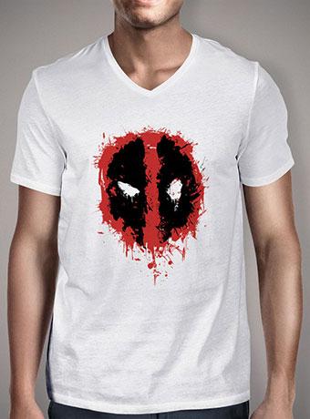 Мужская футболка с V-образным вырезом Deadpool Splatter Icon