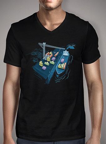 Мужская футболка с V-образным вырезом Game Port