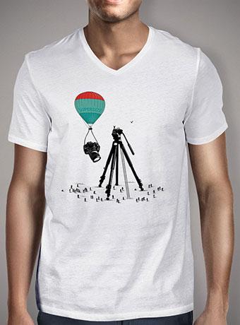 Мужская футболка с V-образным вырезом Supersize Cam Atraction