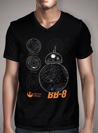 Мужская футболка с V-образным вырезом Astro Droid BB-8