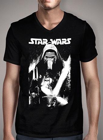 Мужская футболка с V-образным вырезом Kylo Ren Street Art