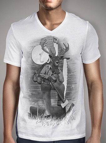 Мужская футболка с V-образным вырезом In the Woods