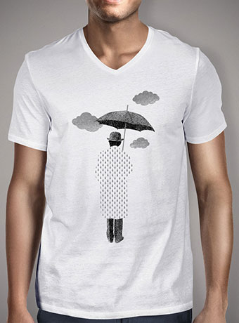 Мужская футболка с V-образным вырезом Rainman