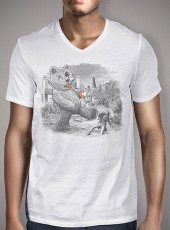 Мужская футболка с V-образным вырезом Teddy's Back!