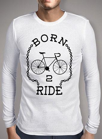 Мужская футболка с длинным рукавом Born To Ride