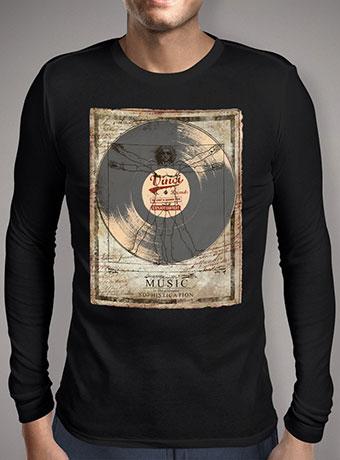 Мужская футболка с длинным рукавом De Vinci Vinyl