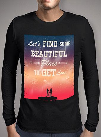 Мужская футболка с длинным рукавом Find Some Beautiful Place