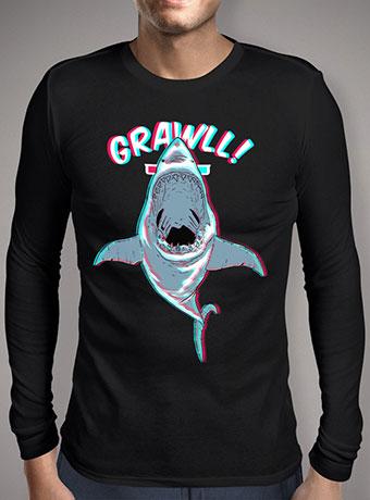 Мужская футболка с длинным рукавом Jaws 3d