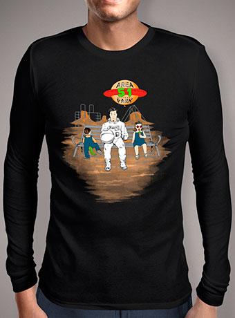 Мужская футболка с длинным рукавом Area 51