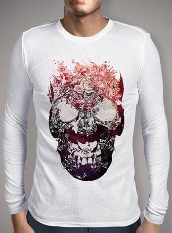 Мужская футболка с длинным рукавом Floral Skull