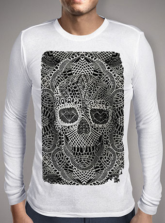 Мужская футболка с длинным рукавом Lace Skull