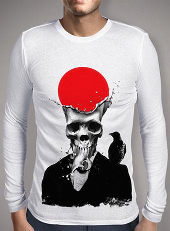 Мужская футболка с длинным рукавом Splash Skull