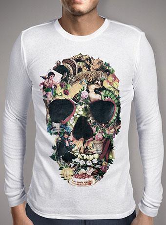 Мужская футболка с длинным рукавом Vintage Skull