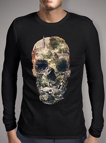Мужская футболка с длинным рукавом Skull Town