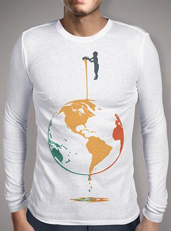 Мужская футболка с длинным рукавом Fill Your World With Colors