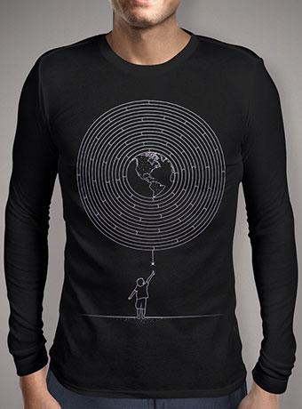 Мужская футболка с длинным рукавом I Dream To Explore The World